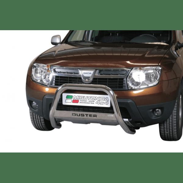 Misutonida Bull Bar Ø63mm inox srebrni za Dacia Duster 2010-2017 s EU certifikatom