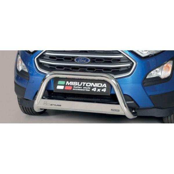 Misutonida Bull Bar Ø63mm inox srebrni za Ford Ecosport 2018 s EU certifikatom