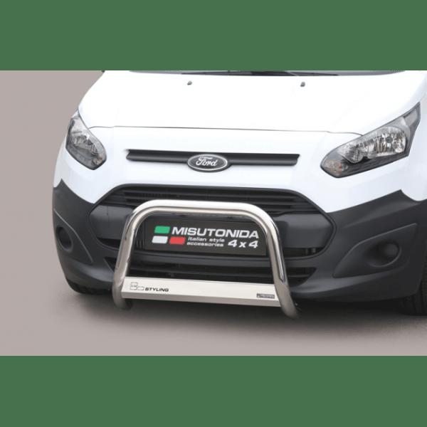 Misutonida Bull Bar Ø63mm inox srebrni za Ford Transit Connect 2014-2017 s EU certifikatom