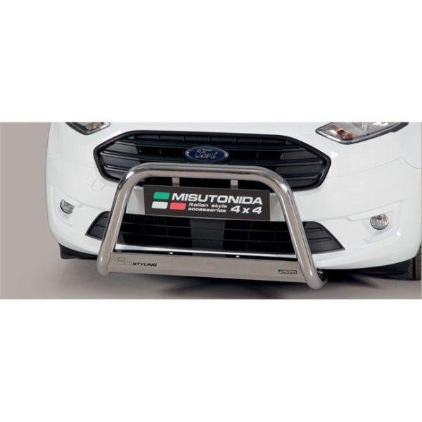 Misutonida Bull Bar Ø63mm inox srebrni za Ford Transit Connect Tourneo 2018 s EU certifikatom