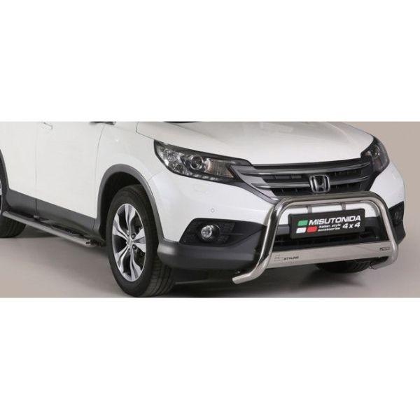Misutonida Bull Bar Ø63mm inox srebrni za Honda CR-V 2012-2015 s EU certifikatom