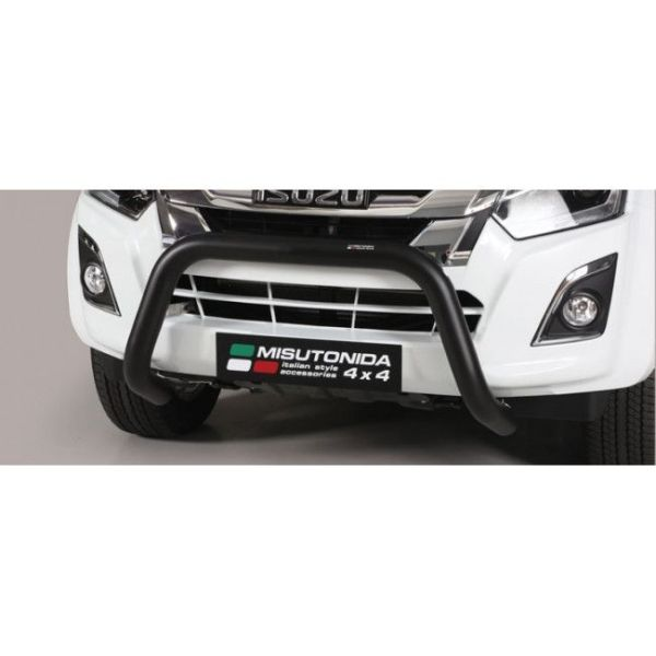 Misutonida Bull Bar Ø76mm inox crni za Isuzu D-Max Double Cab 2017 s EU certifikatom