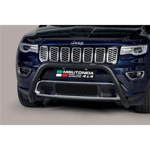 Misutonida Bull Bar Ø76mm inox crni za Jeep Grand Cherokee 2015 s EU certifikatom