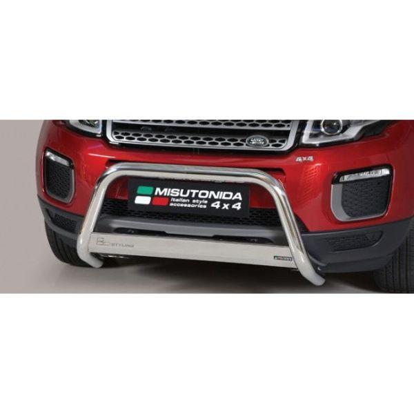 Misutonida Bull Bar Ø63mm inox srebrni za Range Rover Evoque 2016+ s EU certifikatom