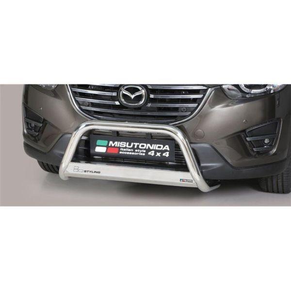 Misutonida Bull Bar Ø63mm inox srebrni za Mazda Cx5 2015 s EU certifikatom