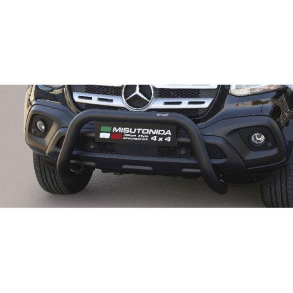 Misutonida Bull Bar Ø76mm inox crni za Mercedes X Class 2017 s EU certifikatom