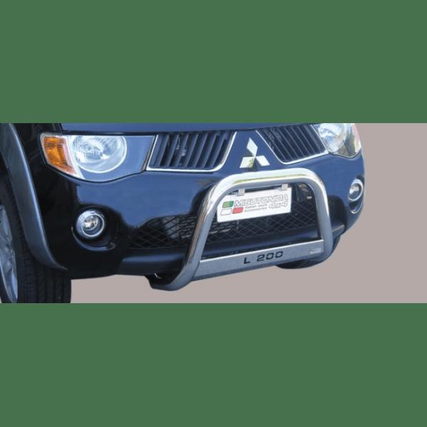 Misutonida Bull Bar Ø63mm inox srebrni za Mitsubishi L200 Double/Club Cab 2006-2009 s EU certifikatom