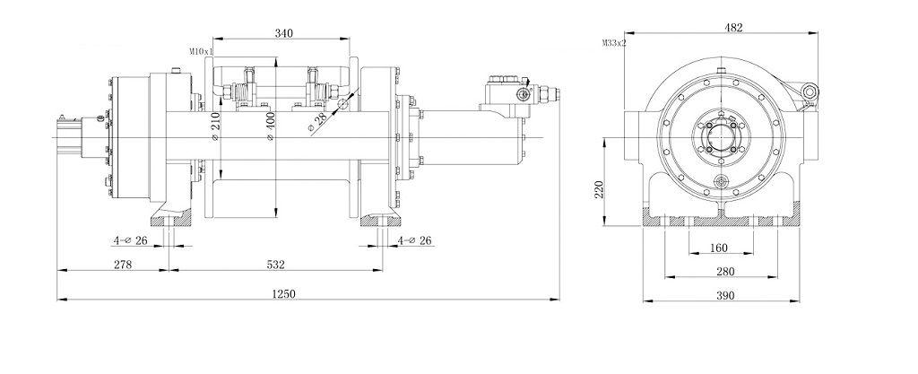Vitlo Dragon Hidra DWHI 450 HD, hidraulično, 20.000 kg, bez kontrolnog seta i sajle