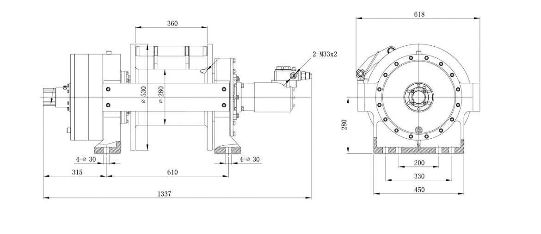 Vitlo Dragon Hidra DWHI 660 HD, hidraulično, 30.000 kg, bez kontrolnog seta i sajle