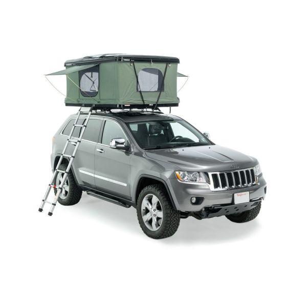 Thule Tepui HyBox krovni šator s tvrdim stijenkama i krovna kutija 2u1 crna za dvije osobe
