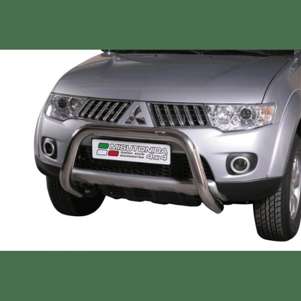 Misutonida Bull Bar Ø76mm inox srebrni za Mitsubishi L200 Club Cab 2010-2015 s EU certifikatom