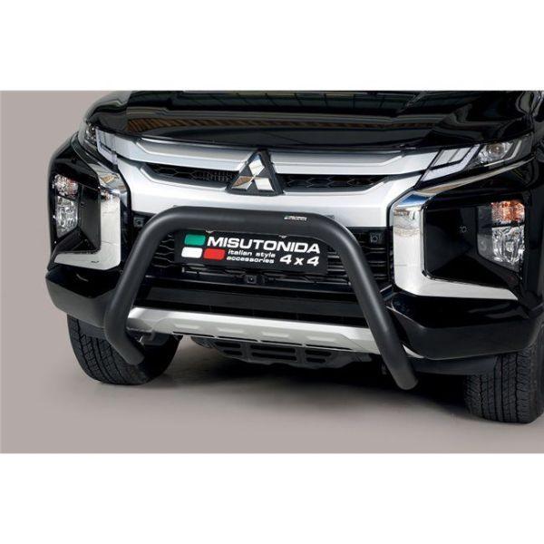 Misutonida Bull Bar Ø76mm inox crni za Mitsubishi L200 Double Cab 2019 s EU certifikatom