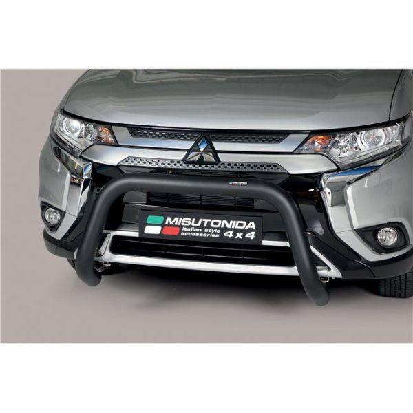 Misutonida Bull Bar Ø76mm inox crni za Mitsubishi Outlander 2020