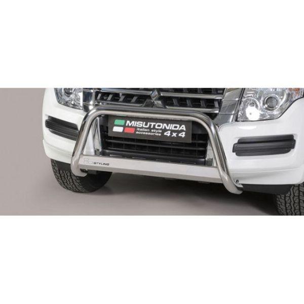 Misutonida Bull Bar Ø63mm inox srebrni za Mitsubishi Eclipse Cross 2018 s EU certifikatom