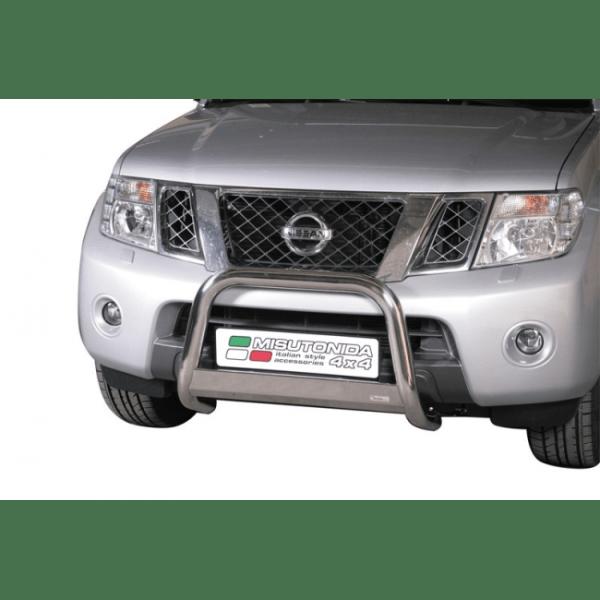 Misutonida Bull Bar Ø63mm inox srebrni za Nissan Navara 2010 - 2016 s EU certifikatom