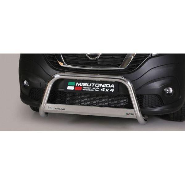 Misutonida Bull Bar Ø63mm inox srebrni za Nissan NV 300 2017 s EU certifikatom