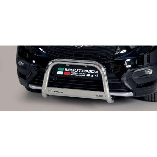 Misutonida Bull Bar Ø63 inox srebrni Bull Bar Opel Combo L1, L2 2018+ s EU certifikatom