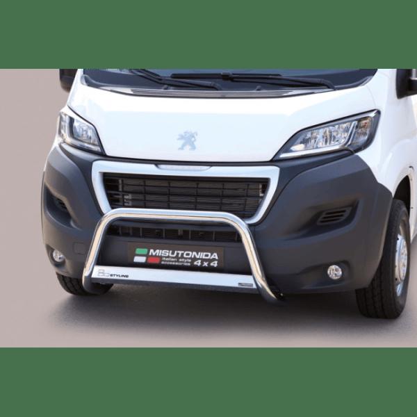 Misutonida Bull Bar Ø63mm inox srebrni za Peugeot Bipper 2014+ s EU certifikatom