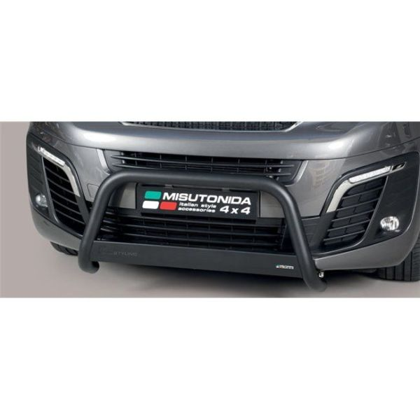 Misutonida Bull Bar Ø63mm crni za Peugeot Expert MWB/LWB 2016 s EU certifikatom