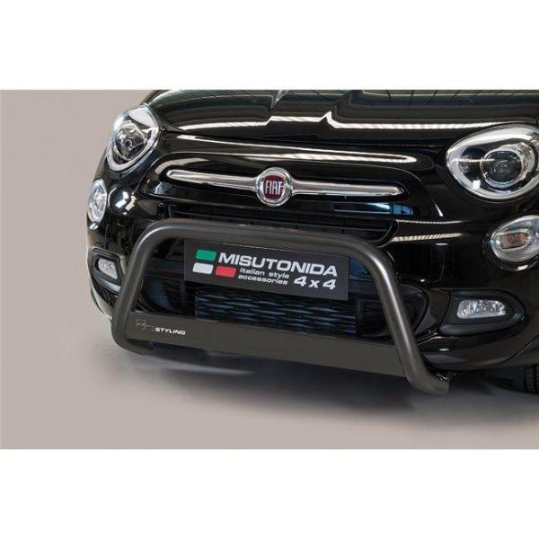 Misutonida Bull Bar Ø63mm inox crni za Fiat 500 X 2015 s EU certifikatom