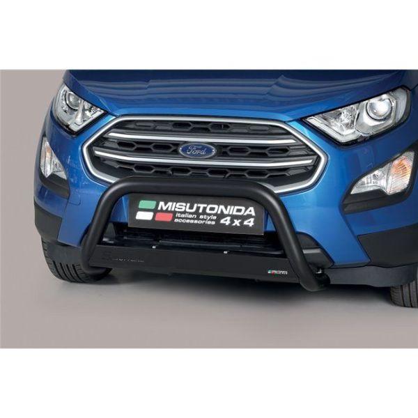 Misutonida Bull Bar Ø63mm inox crni za Ford Ecosport 2018 s EU certifikatom