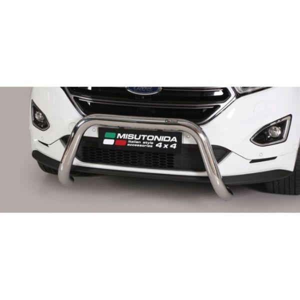 Misutonida Bull Bar Ø76mm inox srebrni za Ford Edge 2016-2018 s EU certifikatom