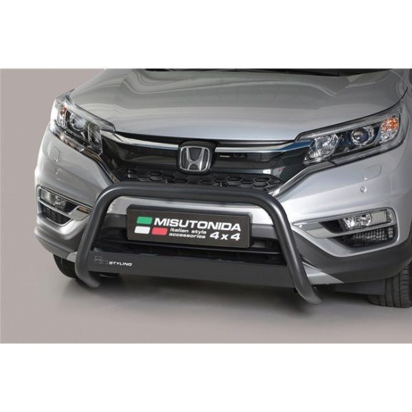 Misutonida Bull Bar Ø63mm inox crni za Honda CR-V 2016-2018 s EU certifikatom