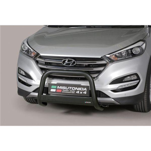 Misutonida Bull Bar Ø63mm inox crni za Hyundai Tucson 2015-2017 s EU certifikatom