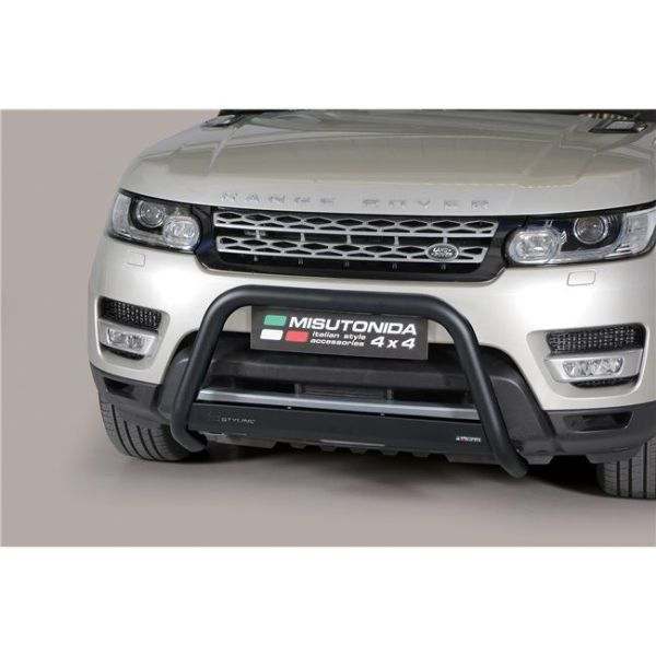 Misutonida Bull Bar Ø63mm inox crni za Land Rover Range Rover Sport 2014-2017 s EU certifikatom