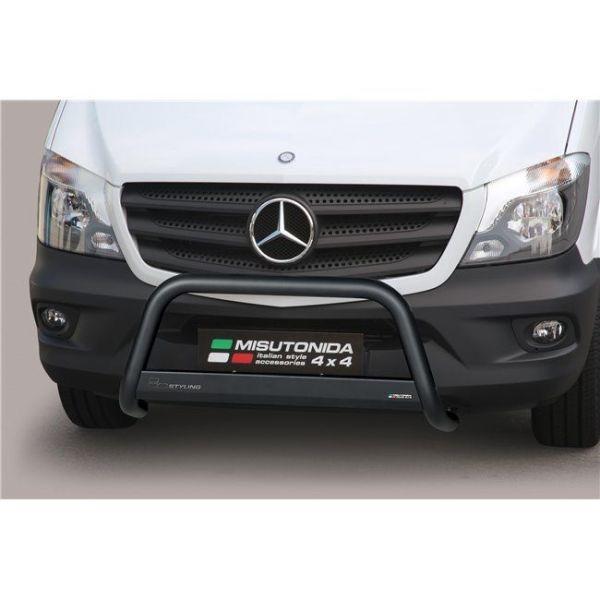 Misutonida Bull Bar Ø63mm inox crni za Mercedes Sprinter 2013-2017 s EU certifikatom
