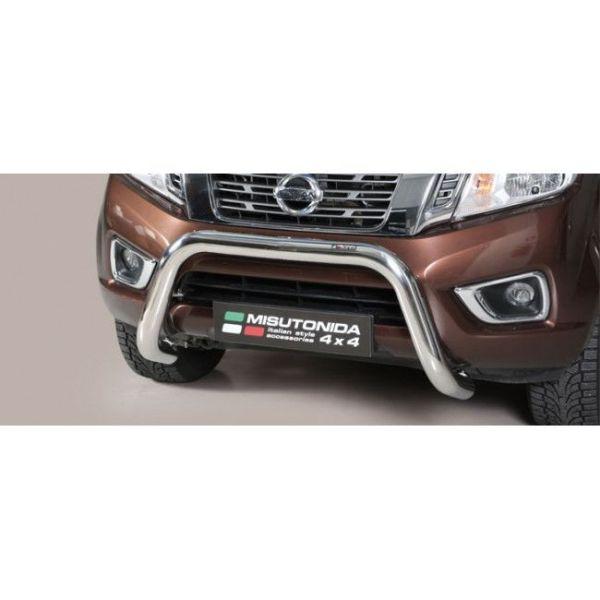 Misutonida Bull Bar Ø76mm inox srebrni za Nissan NP 300 Navara King Cab 2016 s EU certifikatom