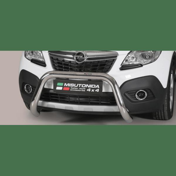 Misutonida Bull Bar Ø76mm inox srebrni za Opel Mokka 2012-2016 s EU certifikatom