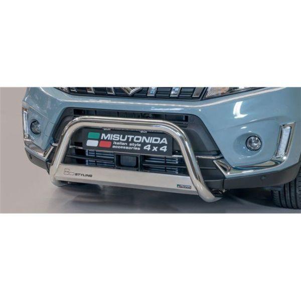 Misutonida Bull Bar Ø63mm inox srebrni za Suzuki Vitara 2019 s EU certifikatom