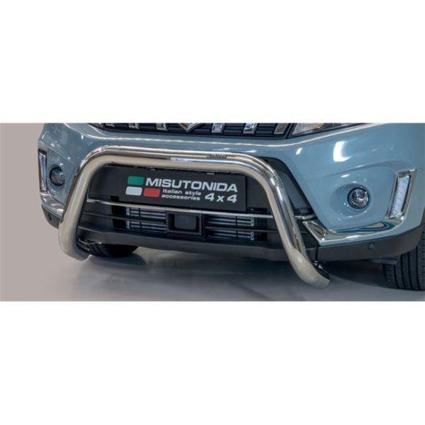 Misutonida Bull Bar Ø76mm inox srebrni za Suzuki Vitara 2019 s EU certifikatom