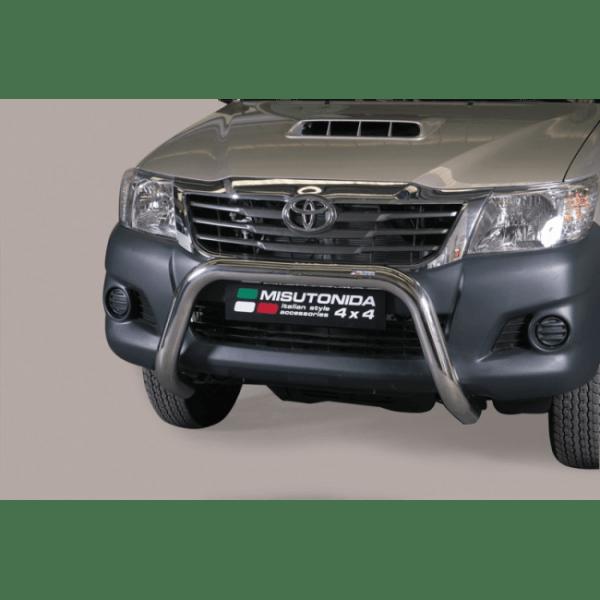 Misutonida Bull Bar Ø76mm inox srebrni za Toyota Hi Lux Double Cab, Extra Cab 2011-2015 s EU certifikatom