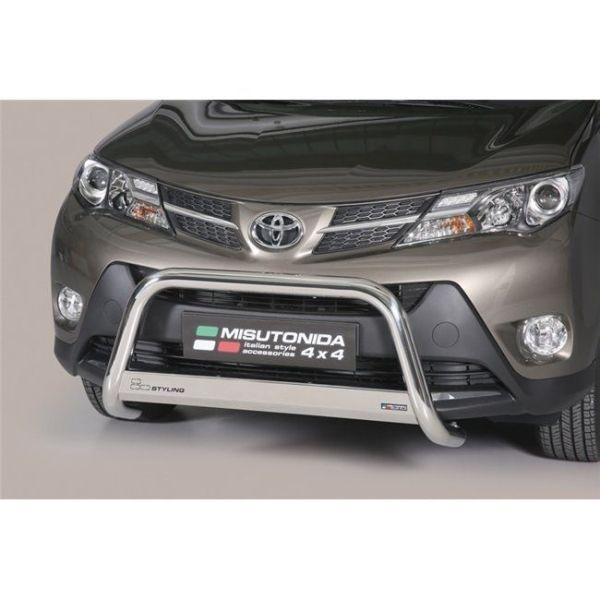Misutonida Bull Bar Ø63mm inox srebrni za Toyota Rav 4 2013-2015 s EU certifikatom