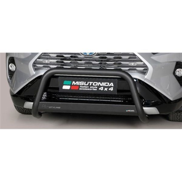 Misutonida Bull Bar Ø63mm inox crni za Toyota Rav 4 Hybrid 2019 s EU certifikatom