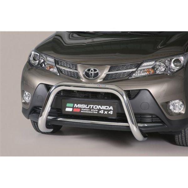 Misutonida Bull Bar Ø76mm inox srebrni za Toyota Rav 4 2013-2015 s EU certifikatom