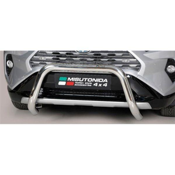 Misutonida Bull Bar Ø76mm inox srebrni za Toyota Rav 4 Hybrid 2019 s EU certifikatom