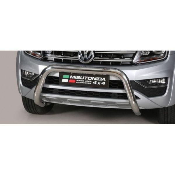 Misutonida Bull Bar Ø76mm inox srebrni za VolkswagenAmarok V6, Highline 2010 s EU certifikatom