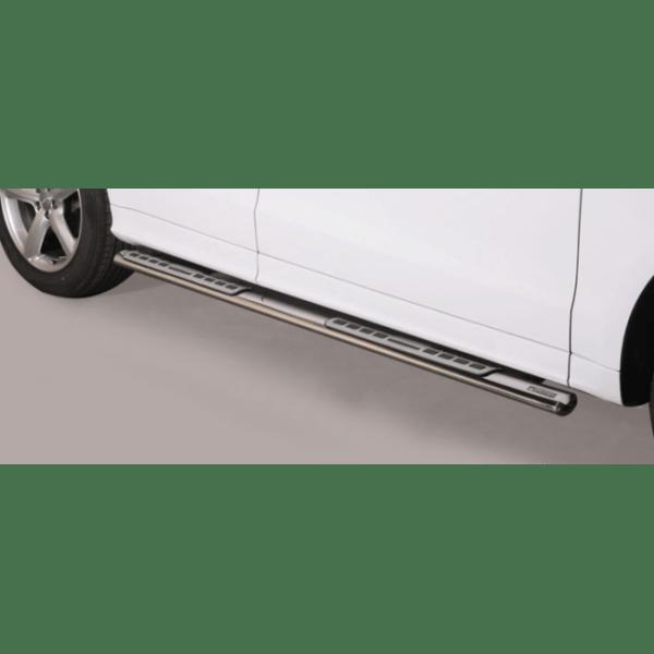 Misutonida bočne stepenice inox srebrne za Audi Q5 2008-2015 s TÜV certifikatom