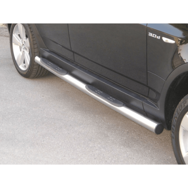 Misutonida bočne stepenice inox srebrne za Bmw X3 2003+ s TÜV certifikatom