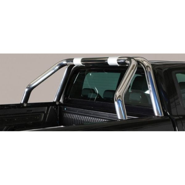 Misutonida Roll Bar Ø76mm inox srebrni za pickup Ford Ranger 2016-2018 i 2019+ double cab s TÜV certifikatom