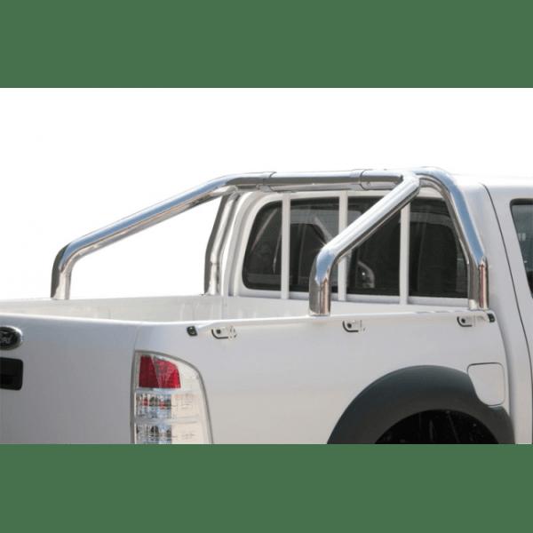 Misutonida Roll Bar Ø76mm inox srebrni za pickup Ford Ranger 2009-2011 double cab s TÜV certifikatom