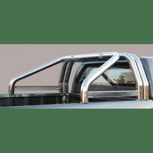 Misutonida Roll Bar Ø76mm inox srebrni za pickup Mazda BT 50 2007-2012 freestyle cab s TÜV certifikatom