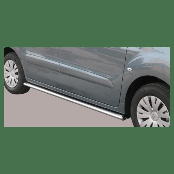 Misutonida bočne stepenice inox srebrne za Citroën Berlingo 2008-2014 s TÜV certifikatom