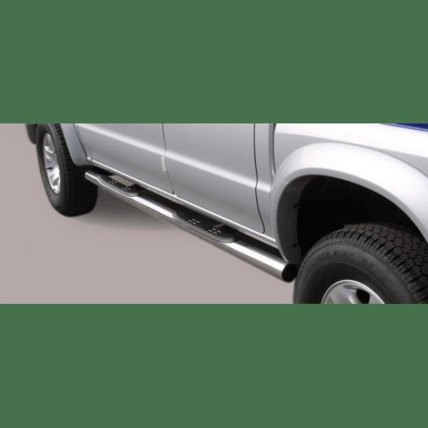 Misutonida bočne stepenice inox srebrne za Mazda B2500 Double Cab 2004-2006 s TÜV certifikatom