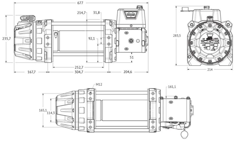 "Vitlo Warn Series 9, generacija 2, 24V, 4.082kg, 10"" bubanj, bez sajle i vodilice"