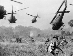 Campo de batalha no Vietnã