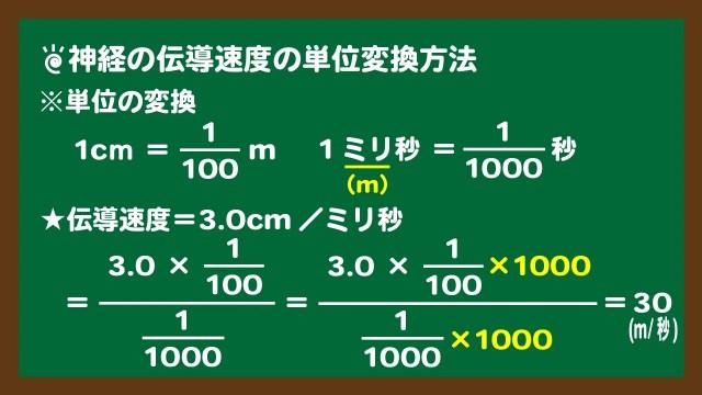 スライド4:伝導速度の単位変換方法
